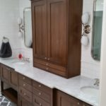 Walnut furniture style vanity