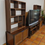 Cherry/Walnut media and art display cabinetry