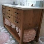 Hand planed Walnut furniture style vanity
